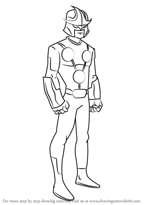 marvel nova coloring pages step by step how to draw nova from ultimate spider man