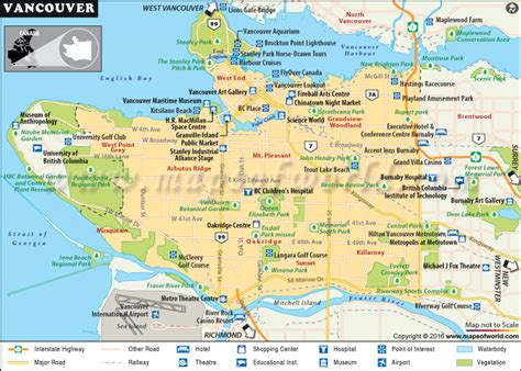 buy vancouver city map canada