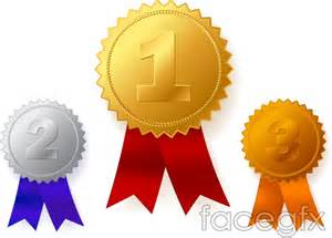 silver and bronze medals vector medal of first ranking