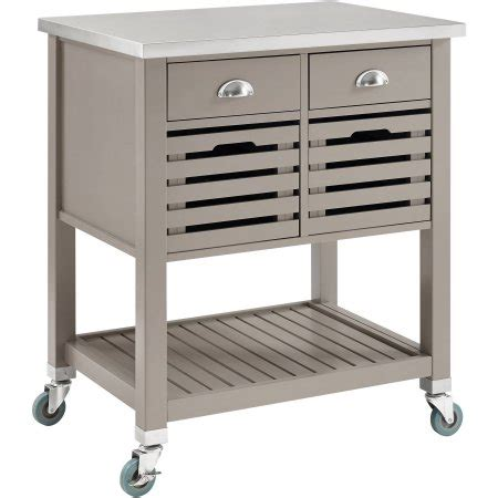 182 00 extra large kitchen island cart with wood top with low cost linon robbin wood kitchen cart gray 36 inches