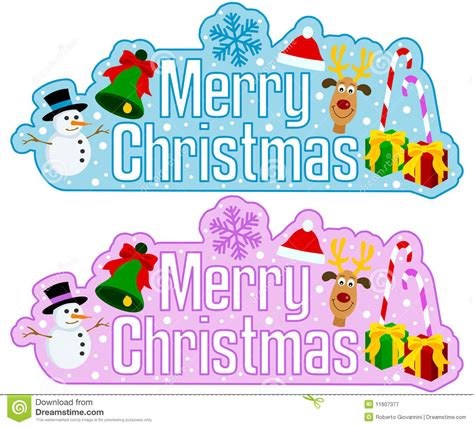 merry christmas headline stock vector image  isolated