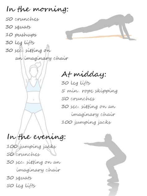 simple exercises for the morning midday and evening