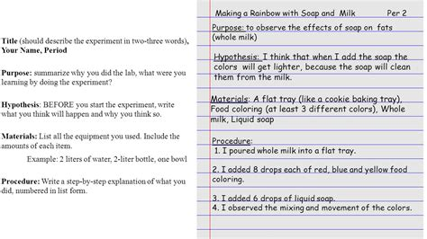 what is the purpose of the color run milk food coloring and soap experiment ppt