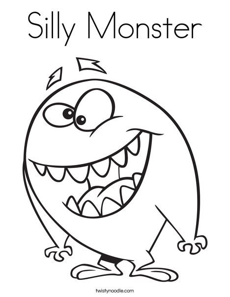 coloring pages of funny monsters silly monster coloring page twisty noodle