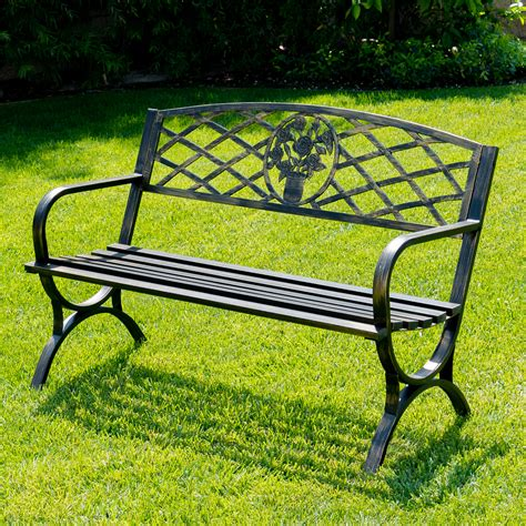 small deck patio furniture outdoor bench patio chair metal garden furniture deck backyard recompense