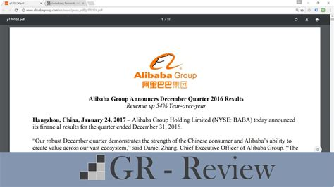 alibaba review alibaba earnings review december 2016 quarter youtube