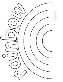 Rainbow Template Preschool by Bingo Marker And Coloring Pages