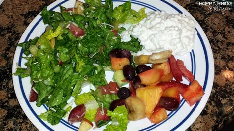 cottage cheese fruit salad healthy lifestyle happy being healthy