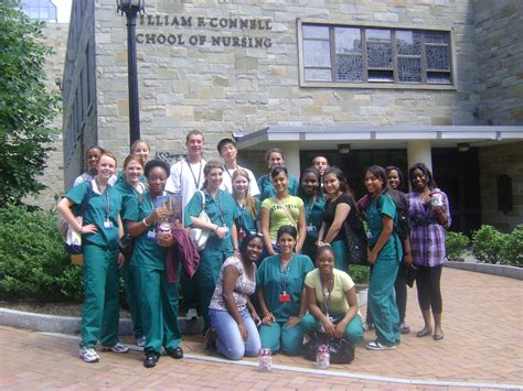Nursing School Boston - students from scoop visit bc to inclusive