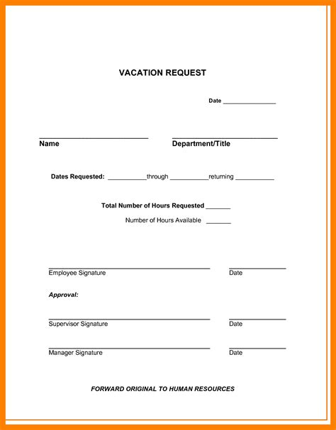 3 vacation request forms 2017 teller resume