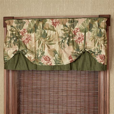 Tropical Window Valances tropical tie up valance window treatment