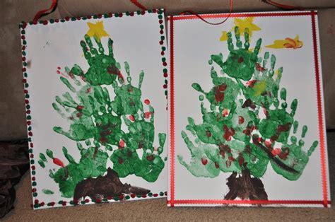 christmas tree crafts for preschool using handprint crafts and decor ideas