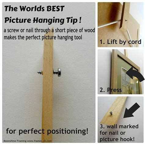 Picture Hanging Techniques | 1000 ideas about picture hanging tips on pinterest