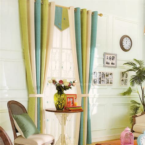 green and beige curtains green blue and beige chenille striped curtains 2016 new