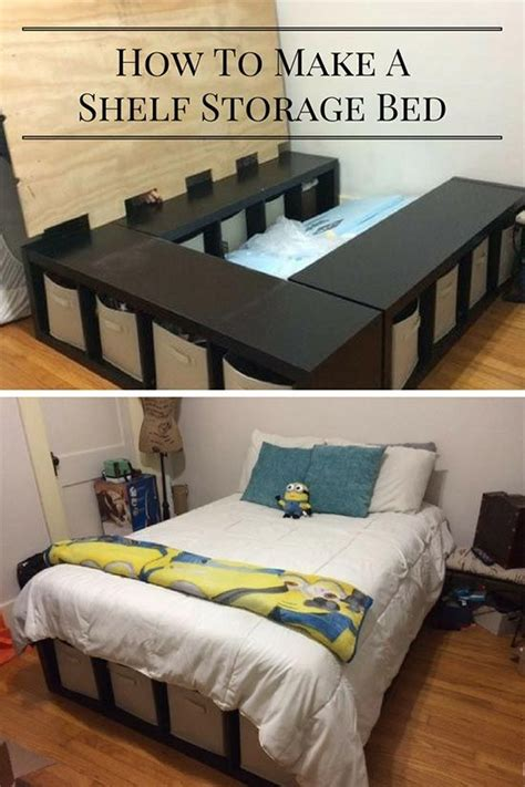storage ideas for comforters creative under bed storage idea diy shelf bed storage