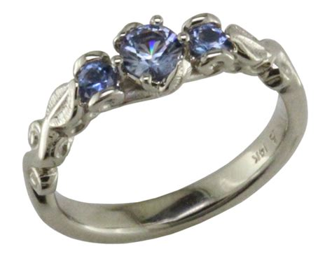 14kw Benitoite Engagement Ring Mardon Jewelers