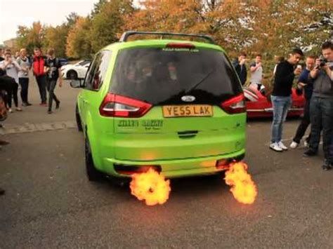 ford galaxy rs ford galaxy focus rs engine flames gumball manchester 28