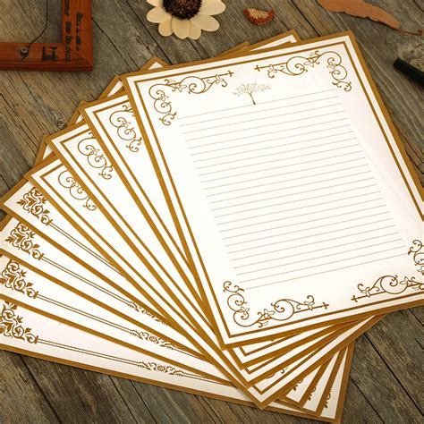 vintage writing paper free shipping high quality 8pcs vintage