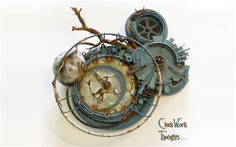 wallpaper 3d clock steunk mechanical movies clockwork orange clock watch