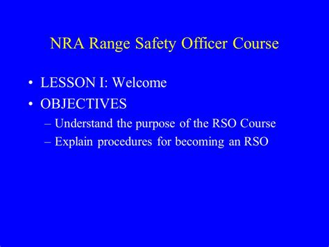 Nra Range Safety Officer by Nra Range Safety Officer Course Ppt