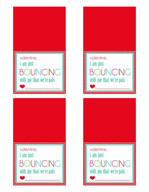 bouncy printables diy bouncy valentines utz designs