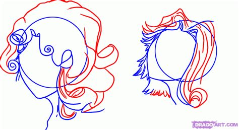 how to draw curly hair 12 steps with pictures wikihow blue sky how to draw anime curly hair