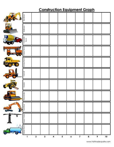 printable toddler travel games construction equipment graph printable games for the car