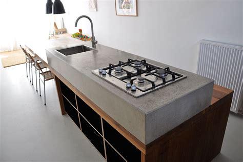 keukenblok tuin betonnen keukenblok betonnen aanrechtblad pinterest