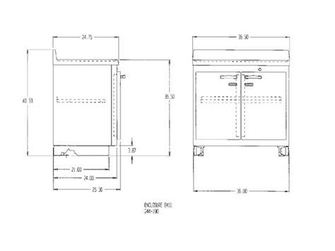 Base Cabinet Dimensions by Dupharma Lead Lined Preparation Enclosure Base Cabinet