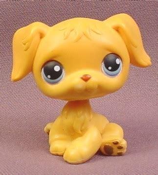 lps golden retriever littlest pet shop 21 golden retriever puppy with blue 2004 hasbro rons