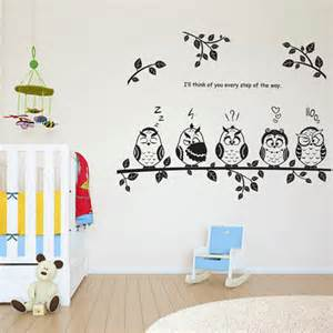 room decoration stickers wall stickers home decoration living room owl sticker