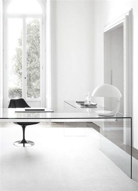 minimalist office desk glass desk the most beautiful accessory for your