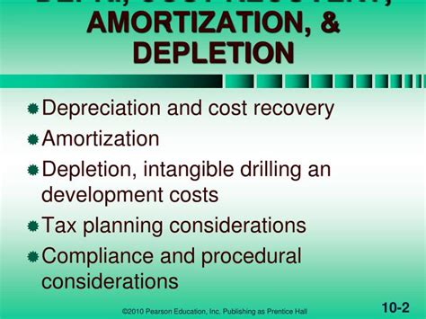 Amortization Code Section by Ppt Depr Cost Recovery Amortization Depletion