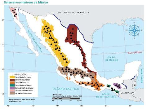 cadenas orograficas principales de mexico mapas de m 233 xico geograf 237 a