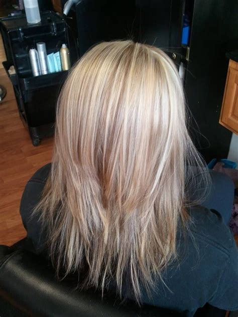 images of blonde layered haircuts from the back cut long hair with blonde highlights