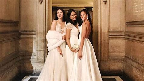 Georgina and Belle Wore Their Bridal Gowns to Vicki and