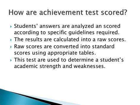 how to measure the accomplishment of the student dr ir achievement test