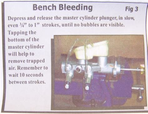 how to bench bleed brakes how to bench bleed a brake master cylinder 28 images