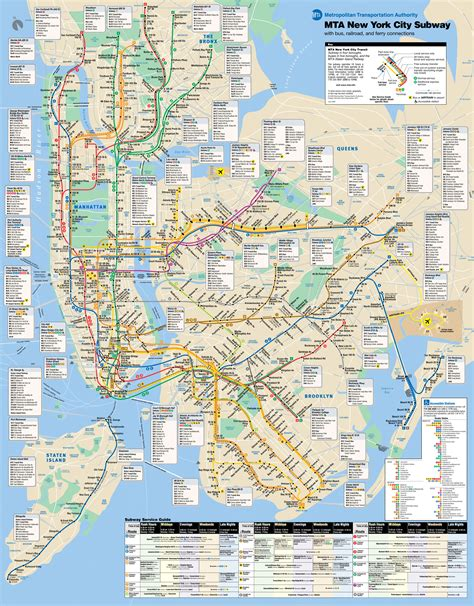 map subway new york city map of new york streets and avenues images