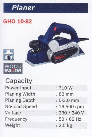 Bosch Gho10 82 Kepala Planner bosch planer gho10 82 products of mesin cutting