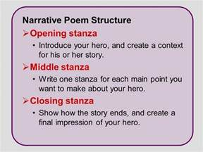 narrative writing write a narrative poem ppt