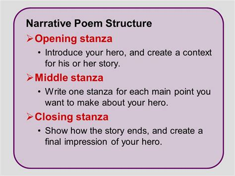 how to write an essay about a poem narrative writing write a narrative poem ppt