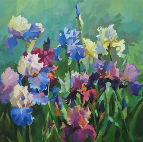 paintings of flowers flower oil painting by dariia mandziuk