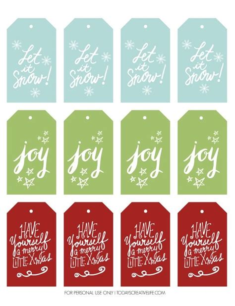 easy printable name tags free holiday gift tags today s creative life