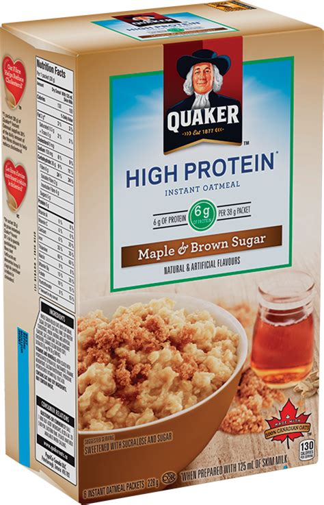 protein in oatmeal quaker 174 high protein maple brown sugar flavour instant