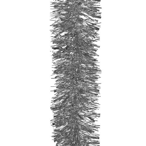 3m luxury chunky silver tinsel christmas tree decoration