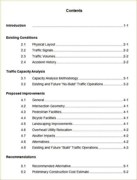 10 table of contents word template academic resume template 6 table of contents template word academic resume template