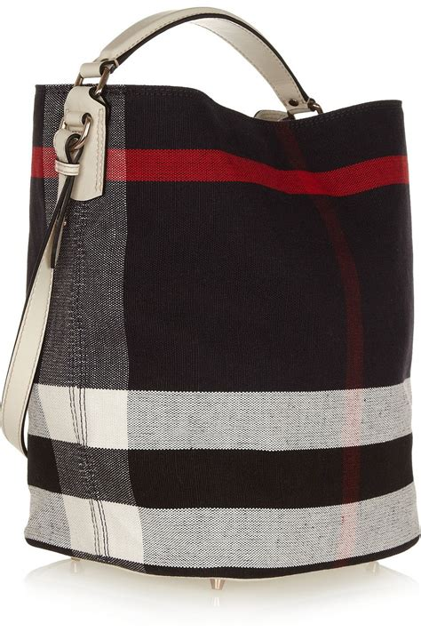 Burberry Signature Top burberry signature checked canvas hobo bag with top handle and shoulder handbag