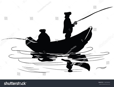 small fishing boat drawing fishermen boat fishing boat drawing made stock vector