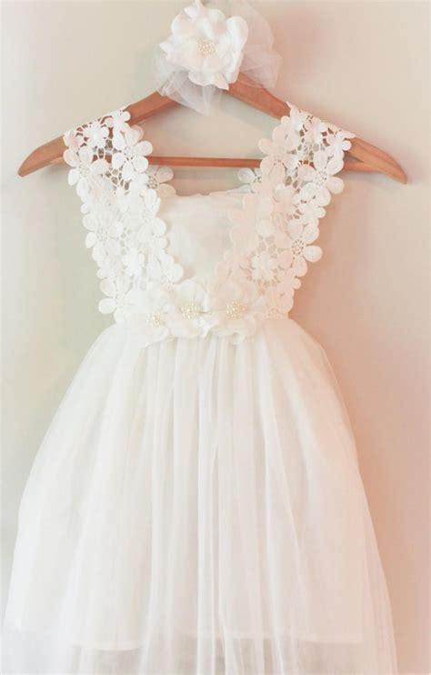 Ths Flower Dress white flower dress white lace flower dress